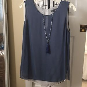 Vince sleeveless tank 100% silk